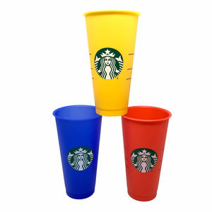3 x Starbucks 2020 Summer Color Changing Reusable Cold Cup Tumblers RYB